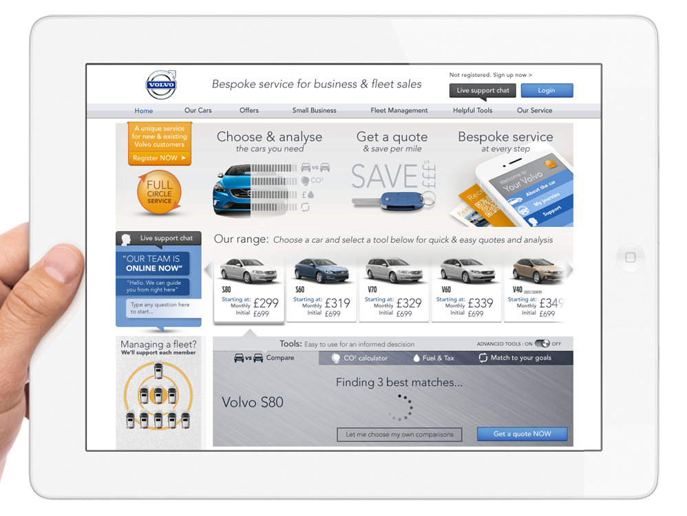 Adlabs Global - Volvo Bespoke Service for business and fleet sales